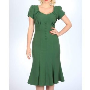 Stop Staring! Holly Dress in Green